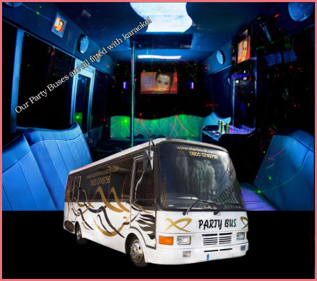 Goldie Party Limo Bus