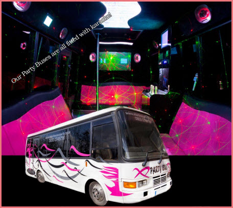 Lilly Pink Party Limo Bus